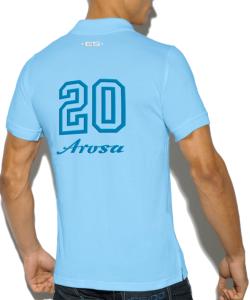 Arosa polo shirt 2020 - back